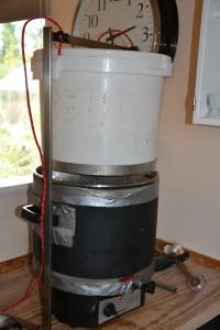 Siningen af urten foregår ved at hæve filterspanden op af gryden